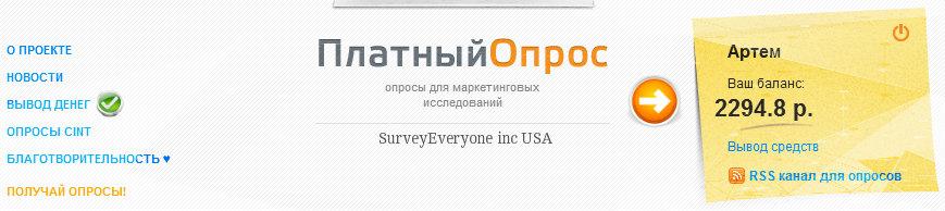 уровень заработока в личном кабинете сайта platnijopros.ru