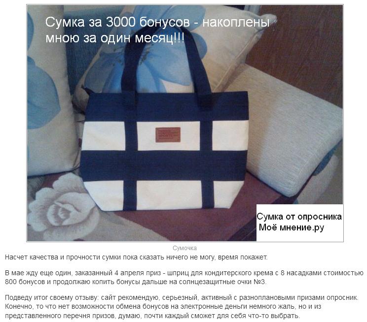 сумка от сайта мое мнение ру