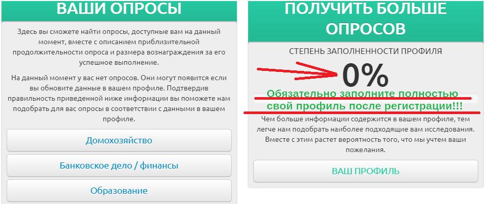 Surveys личный кабинет регистрация