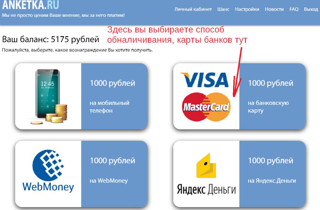 Анкетка ру как вывести деньги с сайта